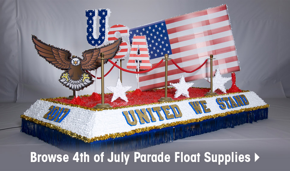 Browse 4th of July Parade Float Supplies