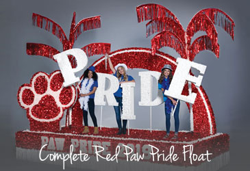 Complete Red Paw Pride Float