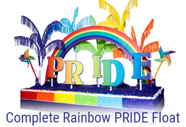 Complete Rainbow PRIDE Float