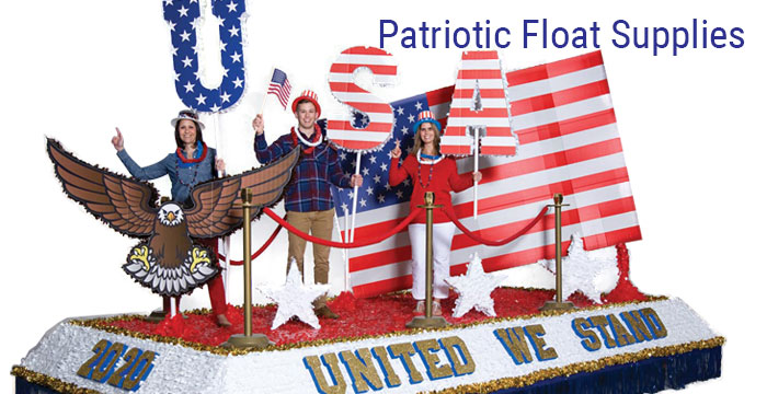Patriotic Float Supplies