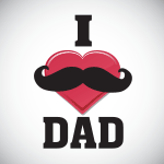 3373 - heart mustache fathers d