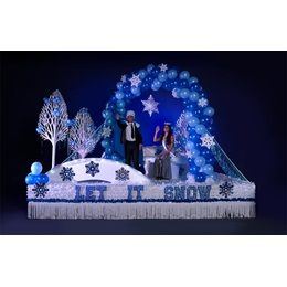 Economical Complete Let it Snow Parade Float Decorating Kit