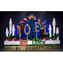 Economical Complete Merry Christmas Parade Float Decorating Kit