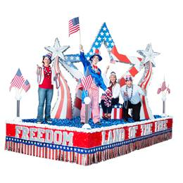 Complete Land of the Free Parade Float Decorating Kit