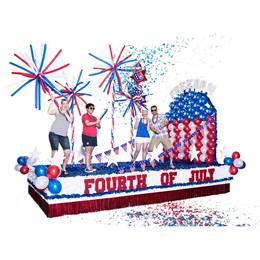 Complete Freedom Fourth of July Parade Float Decorating Kit
