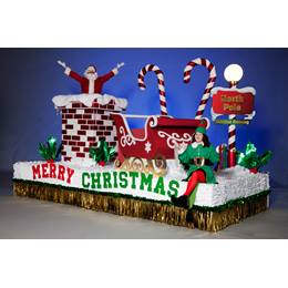 Complete Christmas Time Is Here Parade Float Decorating Kit