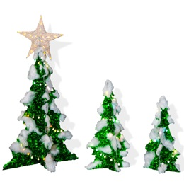 Lit Trees (set of 3)