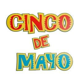 Cinco de Mayo Letters Parade Float Kit (set of 2)