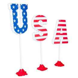 USA Letter Stands Parade Float Kit