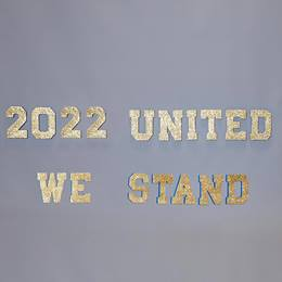 United We Stand Painted Letters Parade Float Kit