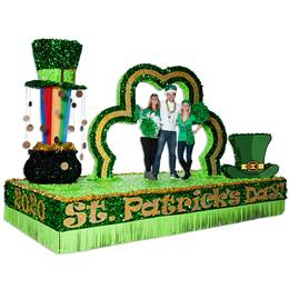 St. Patrick's Day Letters and Year Parade Float Kit (set of 2)