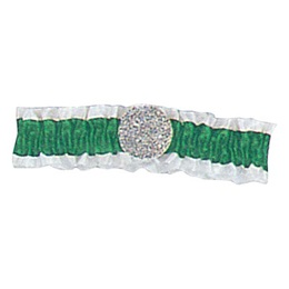 Green and White Arm Band