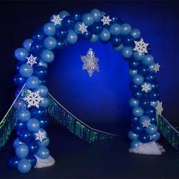 Winter Snowflake Balloon Arch Kit