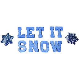 Let It Snow Letters and Flakes Kit