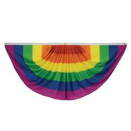 Pleated Rainbow Flag Bunting
