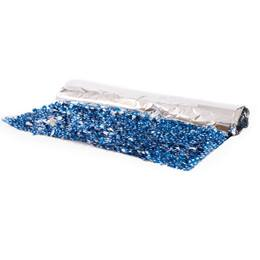 Floral Sheeting - Blue with White Stars