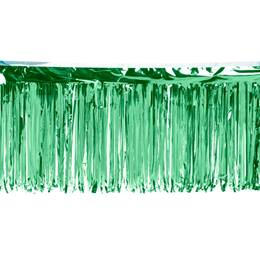 Green Metallic Fringe