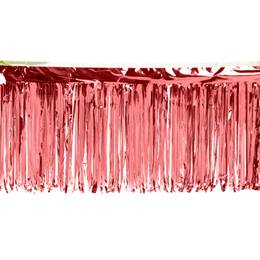 Red Metallic Fringe