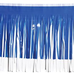 Blue Metallic & White Vinyl Fringe