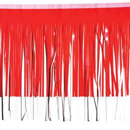Red Metallic & White Vinyl Fringe