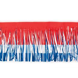 Vinyl Fringe-Red/White/Blue
