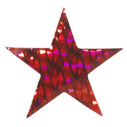 Red Diamond Holographic Star-2""