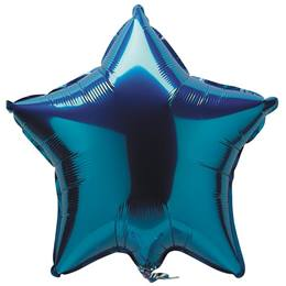 Foil Star Balloon-Blue