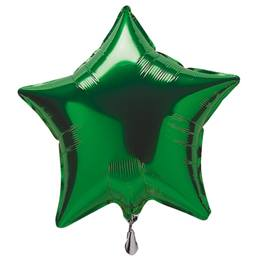 Foil Star Balloon-Green