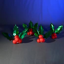 Holly & Berries Balloon Clusters Kit (set of 4)