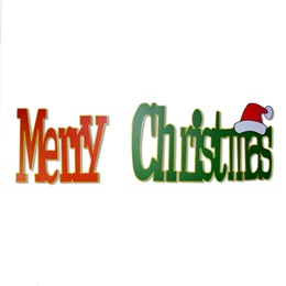 Red & Green Merry Christmas Plastic Signs Kit