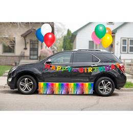 Rainbow Birthday Car Parade Decoration Kit
