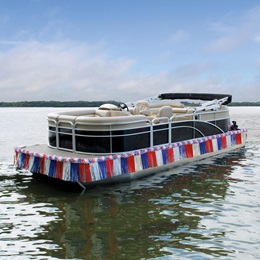 Red, White, and Blue Easy Float Pontoon Kit - 20 ft.