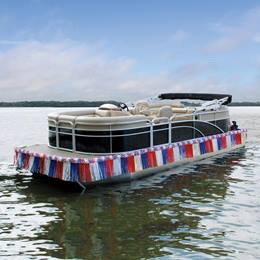 Red, White, and Blue Easy Float  Pontoon Kit - 25 ft.
