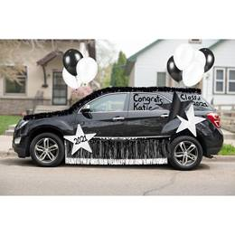 Black/White Car Parade Decoration Kit