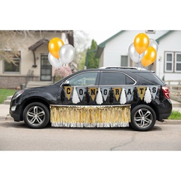 Black/Silver/Gold Graduation Car Parade Decoration Kit