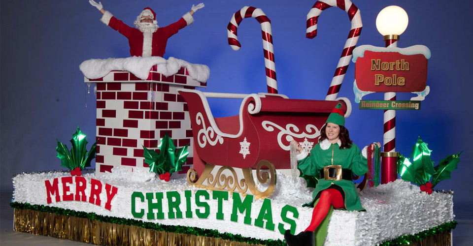 christmas time is here parade float theme