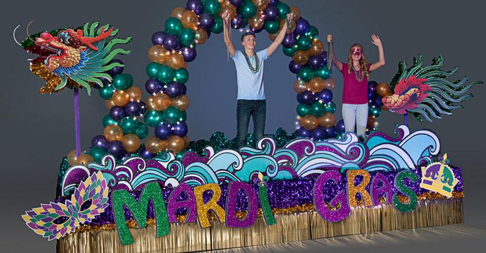 Complete Mardi Gras Mythology Parade Float Decorating Kit