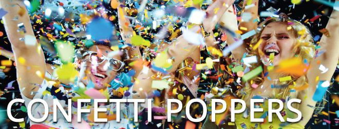 Confetti Poppers Banner